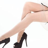 Coquette Nude Sheer Stockings