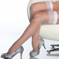 Coquette XL White Stockings