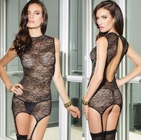 Reversible Chemise with Garters