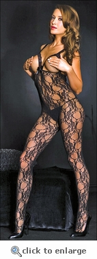 Crotchless Bust Out Bodystocking