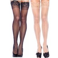 Thigh High Stockings with Stay Up Lace Tops
