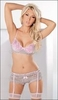 Bloomers, Bra, GarterBelt & Stockings Set