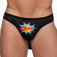 Men's Super Hero Thong Cape Rear