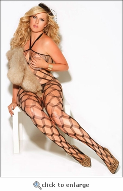 Queen Size Bodystocking Multi-Net