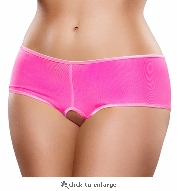 Queen Size Crotchless Shorts Light Reactive Neons