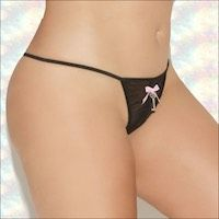 Crotchless Panty with Key Charm XL