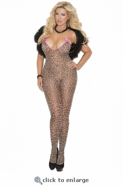 Queen Size Leopard Bodystocking