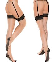 Cuban Stockings Black & Nude