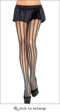 Two-Tone Thorn Net Pantyhose