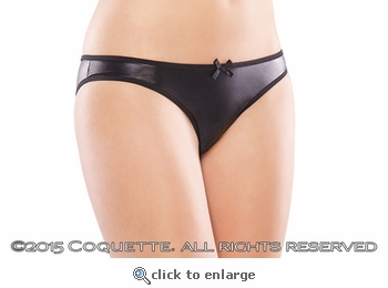Wet Look Crotchless Panty XL