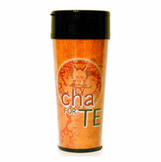 Cha For Tea Orange Travel Cup