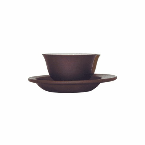 Purple Clay Tea Cup with Saucer