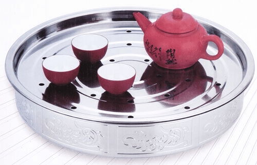 Stainless Steel Round Tea Tray