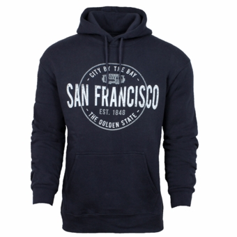 New San Francisco Nuts and Bolt Hoodie Sweatshirt Navy