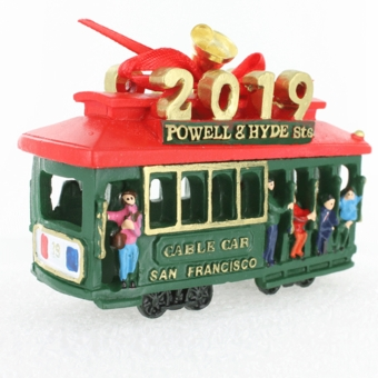 San Francisco 2019 Cable Car Holiday Ornament
