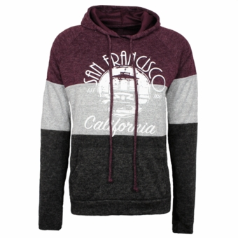 San Francisco 3 Layers Cake Sweater Maroon Color