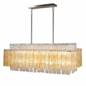 14 Lamp Synphonia Chandelier - Amber Glass