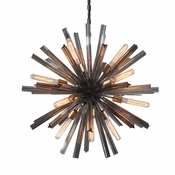 "33"" Eos Chandelier-Pearl Black  - Lighting Collection"