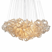 "36"" Infinity Chandelier - Champagne"