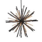 """42"""" Eos Chandelier-Pearl Black  - Lighting Collection"""