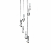 7 Pendant Chrome Cosmopolitan Chandelier - Clear Drop Glass