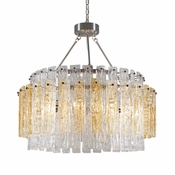 8 Lamp Synphonia Chandelier - Amber Glass