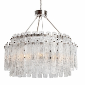 8 Lamp Synphonia Chandelier - Clear Glass  - Lighting Collection