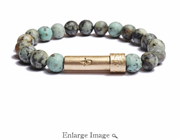 Womens Matte African Turquoise Wishbeads Bracelet - SALE