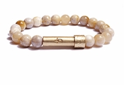 Womens Polished Coral Jade Wishbeads Bracelet - SALE