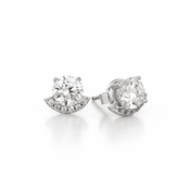 CRISLU Accented 1.8 Carat Brilliant Earrings Finished in Pure Platinum