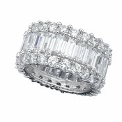 CRISLU Baguette Eternity Band - Size 8