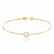 Sold Out - CRISLU Brilliant Cut Wire Bangle Finished in 18KT Gold