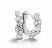 CRISLU Cluster Petite 1.2 Carat Hoops Finished in Pure Platinum