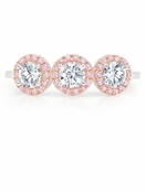 CRISLU Fiore Multi Halo Ring in Pink - Size 8