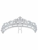 CRISLU Regal Brilliant Cut Bridal Hair Pin