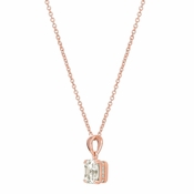 CRISLU Royal Asscher Cut 4.10 Carat Pendant Necklace finished in 18KT Rose Gold