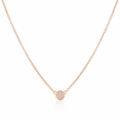 CRISLU Single Sugar Drop Necklace finished in 18KT Rose Gold