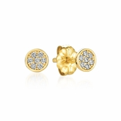 CRISLU Sugar Drop Stud Earrings finished in 18KT Gold