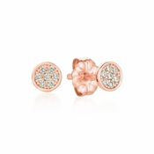 CRISLU Sugar Drop Stud Earrings finished in 18KT Rose Gold