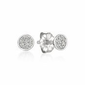 CRISLU Sugar Drop Stud Earrings finished in Pure Platinum