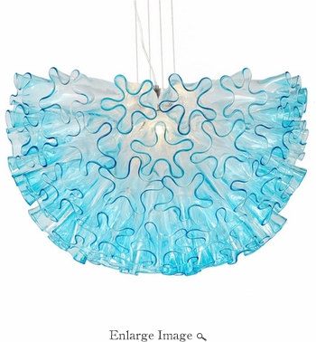 Dahlia Chandelier Aqua Mini by Viz Glass