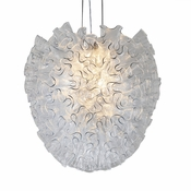 Dahlia Chandelier Clear Large by Viz Glass