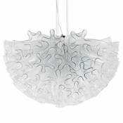 Dahlia Chandelier Clear Mini by Viz Glass