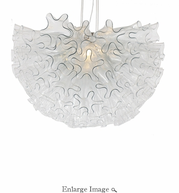 Dahlia Chandelier Clear Small by Viz Glass