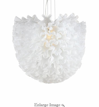 Dahlia Chandelier Opaline Large by Viz Glass