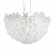 Dahlia Chandelier Opaline Mini by Viz Glass