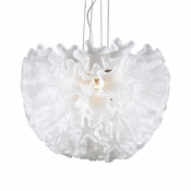 Dahlia Chandelier Opaline Small by Viz Glass