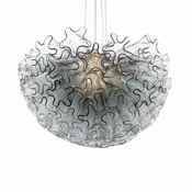 Dahlia Chandelier Smoke Mini by Viz Glass