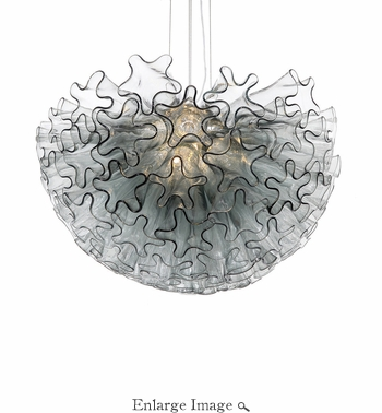 Dahlia Chandelier Smoke Small by Viz Glass