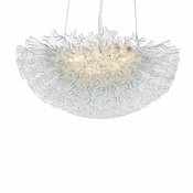 Dahlia Linear Chandelier Clear  by Viz Glass